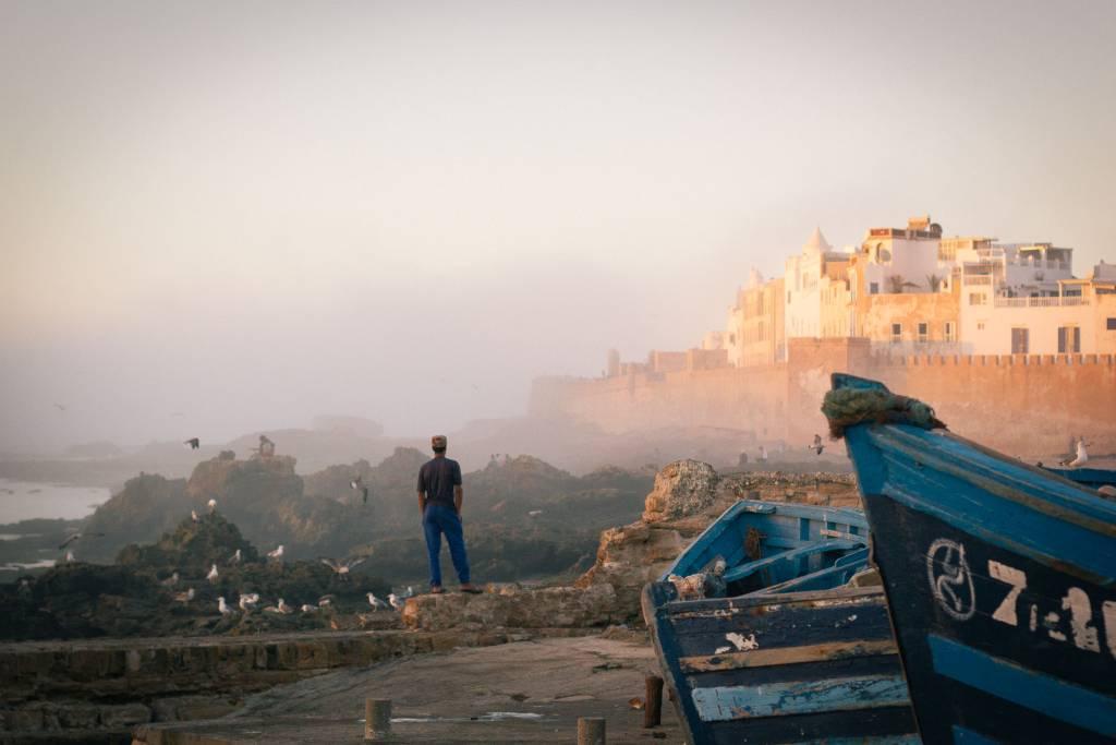 Essaouira sunset harbour by Vipasana Roy