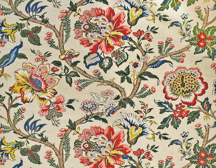 Viscose Folklore Flowers Blumen Meterware Gluckpunkt