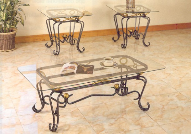wrought iron coffee table with glass top | coffee tables