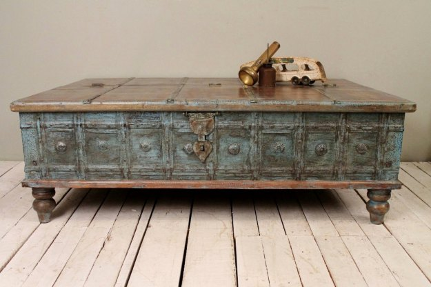 antique distressed coffee table | coffee tables
