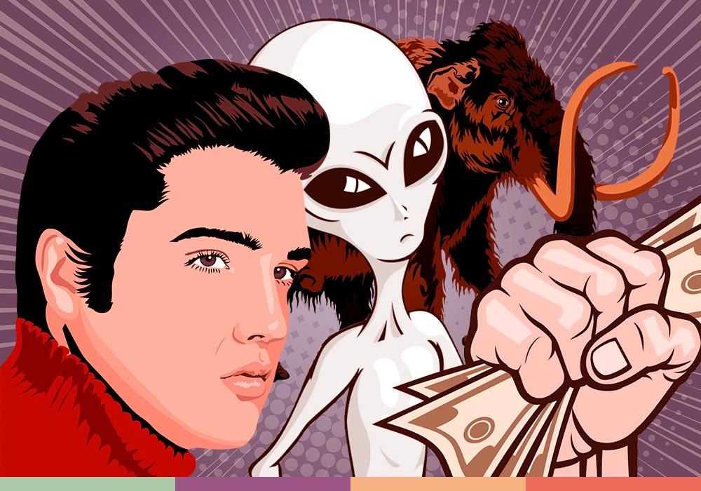 Элвис, конец света и мамонты: топ самых безбашенных ставок в мире