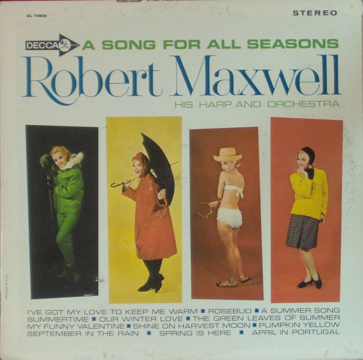 """Front cover art for Robert Maxwell's """"A Song for All Seasons"""""""
