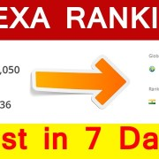 Alexa Ranking just in 7 days