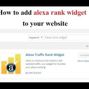 How to add alexa rank widget to your website