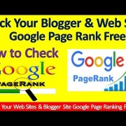 How to check Web site & Blogger Google Pages Rank On All Over Word in Free