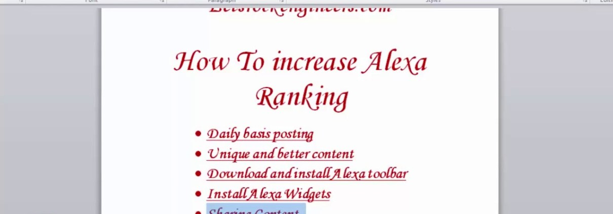 How to increase ALEXA Ranking to your Website  Seo For Begineers Part  4