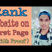 How to rank website on first page on Google with proof | SEO | Hindi | - Udit Sahani