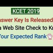 KCET 2019 Answer Key Released in Kea Website know Your Expected Ranking