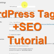 WordPress Tagline + SEO