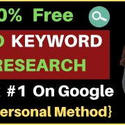 100% FREE Keyword Research for SEO in 2019   My Personal Method   Rank Your Site on Google