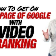 Get On First Page Of Google With Video Ranking