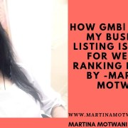 How GMB Google my business Listing is Useful for Website Ranking -Martina Motwani