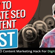 How To Create Content Fast That Ranks In Google! SEO Content Marketing Hack For Digital Marketers