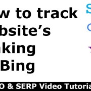 How to track website's ranking on Bing?