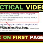 Rank Your Website On Google's First Page | Search Engine Optimization | My Personal Method