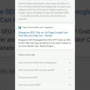 Singapore SEO: Get on Google 1st Page Fast [Latest Search Result Ranking]