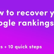 When Rankings Drop Suddenly Do These 10 Steps Pronto