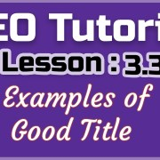 SEO Tutorial 2019: Lesson3.3- Examples of Good Title