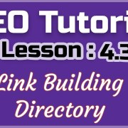 SEO Tutorial 2019: Lesson4.3- Link Building- Directory