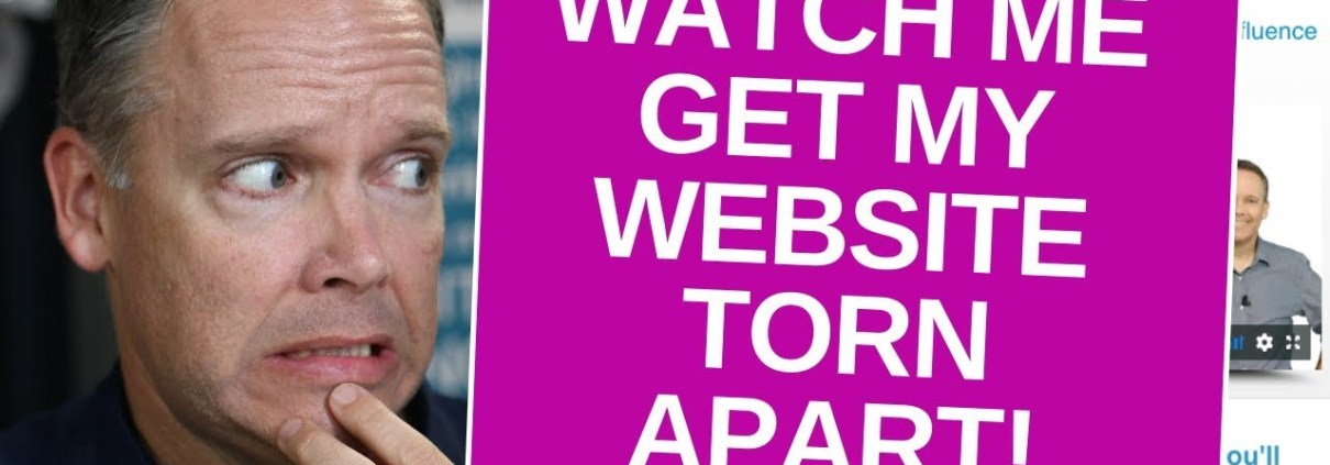 Watch me get my Site TORN APART! What is a Website Audit?