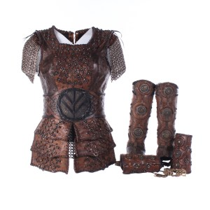 Vikings Lagertha Katheryn Winnick Screen Worn Armor Cuffs & Gaiters Ep 408-410