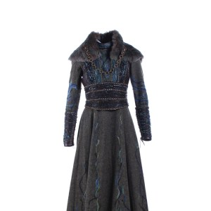Vikings Lagertha Katheryn Winnick Screen Worn Dress Vest & Scarf Ep 416 & 418
