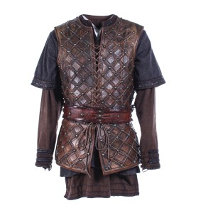 Vikings Bjorn  Alexander Ludwig Screen Worn Armor Tunic & Belt Ss 2