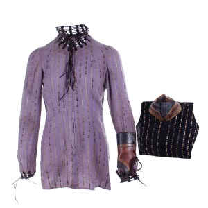 Vikings Torvi Georgia Hirst Screen Worn Shirt Set & Cuff Ss 4