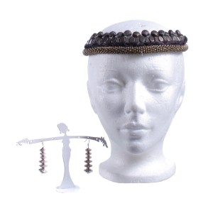 Vikings Lagertha Katheryn Winnick Screen Worn Headpiece & Earrings Ep 507