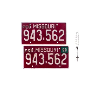 Fargo Josto Fadda Jason Schwartzman Screen Used License Plates & Rosary Ss 4