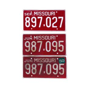 Fargo  Production Used Missouri License Plates Set