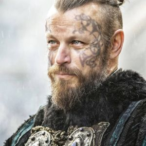 Vikings King Harald Finehair Peter Franzen Production Used Tattoo Art Transfer Pieces