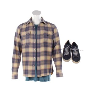 Lot #33 – Bill & Ted Face The Music (2020) Bill Stunt Double Shirt Set & Shoes