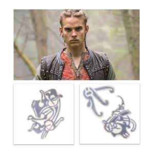 Lot #1 – Vikings Hvitserk Marco Ilso Production Used Tattoo Art Transfer Pieces