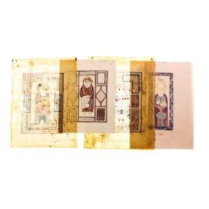 Lot #30 – Vikings Screen Used Lindisfarne Monastery Graphic Icon Page Set 1 Ep 102