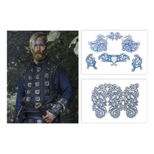 Lot #5 – Vikings Halfdan the Black Jasper Paakkonen Production Used Tattoo Transfers Set1