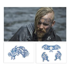 Lot #6 – Vikings Halfdan the Black Jasper Paakkonen Production Used Tattoo Transfers Set6