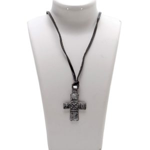 Lot #189 – Vikings Athelstan George Blagden Production Used Cross Necklace & Monastery Art Set Ss 1-2