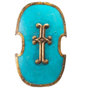 Lot #194 – Vikings Screen Used French Army Shield Ss 3-5