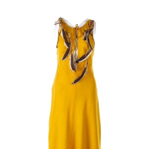 Lot #103 – Vikings Ingrid Lucy Martin Screen Worn Stage 1 Dress & Necklace Ep 613