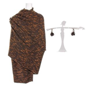 Lot #168 – Vikings Lagertha Katheryn Winnick Production Worn Scarf & Earrings