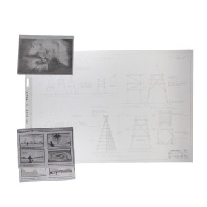 Lot #76 – Vikings Production Used Floki's Iceland Vision Storyboard & Temple Sketches Ss 5 & 6