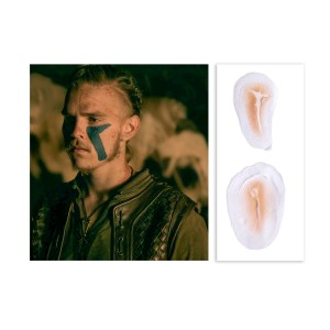 Lot #155 – Vikings Hvitserk Marco Ilso Production Used Prosthetic Scar Set
