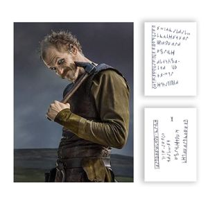 Lot #4 – Vikings Floki Gustaf Skarsgard Production Used Tattoo Art Transfer Pieces Set 5