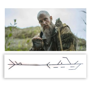 Lot #149 – Vikings Floki Gustaf Skarsgard Production Used Head Tattoo Art Transfer Pieces