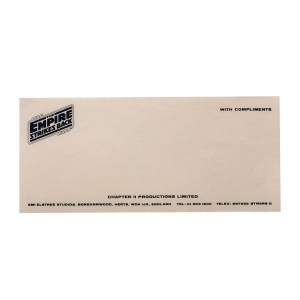 Lot #232 – Star Wars Episode V – The Empire Strikes Back (1980) Production Made Compliment Slip