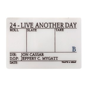 Lot #2 – 24 Live Another Day (2014) Production Made Clapperboard