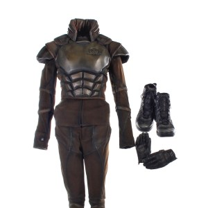 Lot #31 – Altered Carbon (2018-2020) Wedge-Simone Screen Worn Armor Jacket Shirt Set Pants Belt Gloves & Shoes Ep 202-206