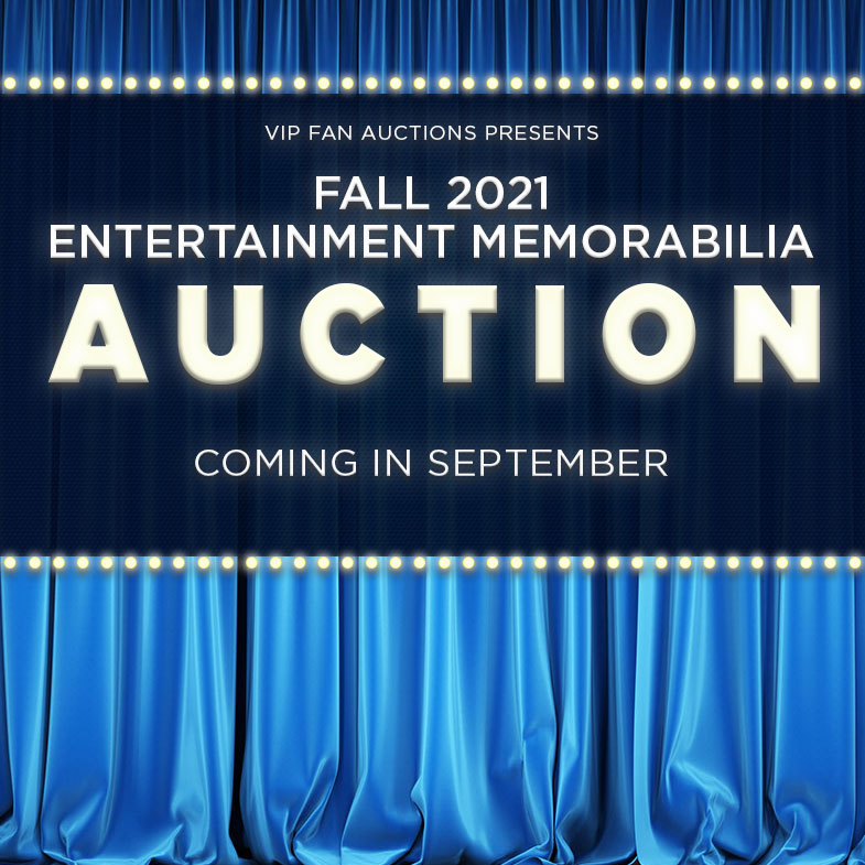 Fall 2021 Entertainment Memorabilia Auction