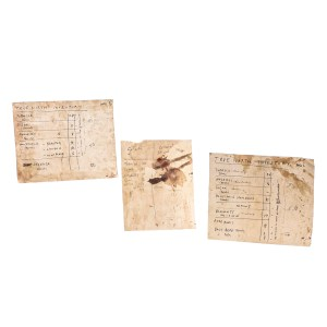 Lot #52 – Black Sails (2014-2017) Rackham Toby Schmitz Screen Used Stage 2 Colonial Dawn List & True North Inventory Pages Ep 206